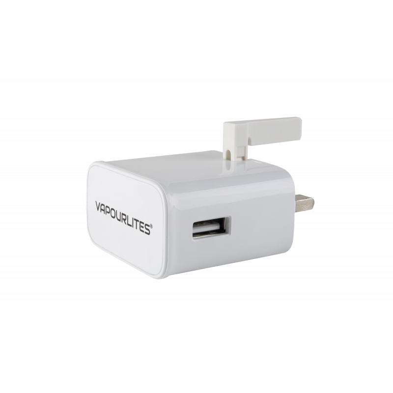 USB to 3 Pin Slimline Mains Wall Charger